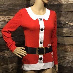 🧡4/$10 Ladies' Christmas Santa Claus Pajama Top